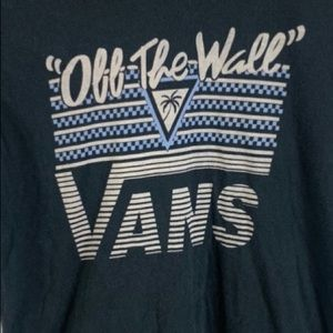 Vans Off The Wall Black T-Shirt Vintage Style Sm